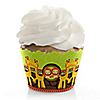 Twins Funfari™ - Fun Safari Jungle - Baby Shower Cupcake Wrappers