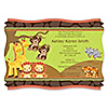 Twins Funfari™ - Fun Safari Jungle - Personalized Baby Shower Invitations