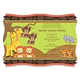 Twins Funfari™ - Fun Safari Jungle - Baby Shower Invitations