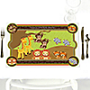 Twins Funfari™ - Fun Safari Jungle - Personalized Baby Shower Placemats