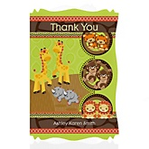 Twins Funfari™ - Fun Safari Jungle - Personalized Baby Shower Thank You Cards