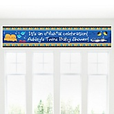 Twin Under The Sea Critters - Personalized Baby Shower Banners