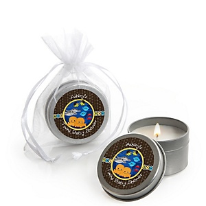 Twin Under The Sea Critters - Candle Tin Personalized Baby Shower Favors