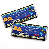 Twin Under The Sea Critters - Personalized Baby Shower Candy Bar Wrapper Favors