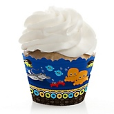 Twin Under The Sea Critters - Baby Shower Cupcake Wrappers & Decorations