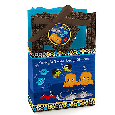 Twin Under The Sea Critters - Personalized Baby Shower Favor...
