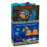 Twin Under The Sea Critters - Personalized Baby Shower Favor Boxes
