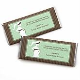 Mommy Silhouette It's Twin Babies - Personalized Baby Shower Candy Bar Wrapper Favors
