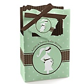 Mommy Silhouette It's Twin Babies - Personalized Baby Shower Favor Boxes