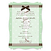 Mommy Silhouette It's Twin Babies - Personalized Baby Shower Vellum Overlay Invitations