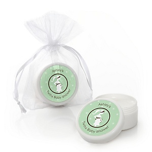 Mommy Silhouette It's Twin Babies - Personalized Baby Shower Lip Balm Favors