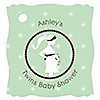 Mommy Silhouette It's Twin Babies - Personalized Baby Shower Tags - 20 ct