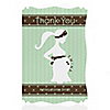 Mommy Silhouette It's Twin Babies - Personalized Baby Shower Thank You Cards