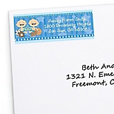 Twin All Stars - Personalized Baby Shower Return Address Labels - 30 ct