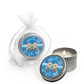 Twin All Stars - Candle Tin Personalized Baby Shower Favors