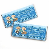Twin All Stars - Personalized Baby Shower Candy Bar Wrapper