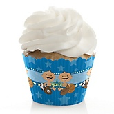 Twin All Stars - Baby Shower Cupcake Wrappers & Decorations