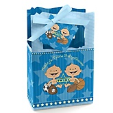 Twin All Stars - Personalized Baby Shower Favor Boxes