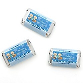 Twin All Stars - Personalized Baby Shower Mini Candy Bar Wrapper Favors - 20 ct