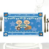 Twin All Stars - Personalized Baby Shower Placemats