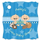 Twin All Stars - Personalized Baby Shower Tags - 20 Count