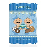 Twin All Stars - Personalized Baby Shower Thank You Cards