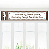 Twins Trendy Mommy - Personalized Baby Shower Banners