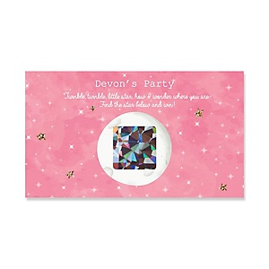 Pink Twinkle Twinkle Little Star - Personalized Party Game Scratch Off Cards - 22 ct