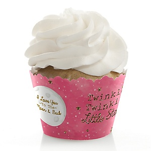 Pink Twinkle Twinkle Little Star - Party Cupcake Wrappers