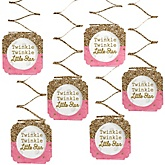 Pink Twinkle Twinkle Little Star - Baby Shower Hanging Decorations - 6 Count