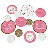Pink Twinkle Twinkle Little Star - Personalized Party Table Confetti - 27 ct