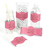 Pink Twinkle Twinkle Little Star - DIY Party Wrappers - 15 ct
