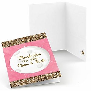 Pink Twinkle Twinkle Little Star - Party Thank You Cards - 8 ct