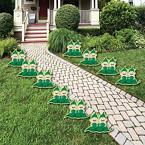 Twins Two Peas in a Pod Caucasian - Lawn Decorations - Outdoor Baby Shower or Birthday Party Yard Decorations - 10 Piece