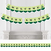 Twins Two Peas in a Pod - Personalized Baby Shower Bunting Banner