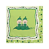 Twins Two Peas in a Pod Caucasian - Baby Shower Beverage Napkins - 16 ct