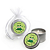 Twins Two Peas in a Pod Caucasian - Personalized Baby Shower Candle Tin Favors