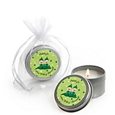 Twin Two Peas in a Pod Caucasian - Candle Tin Personalized Baby Shower Favors