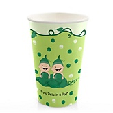 Twins Two Peas in a Pod Caucasian - Baby Shower Hot/Cold Cups - 8 Pack