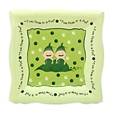 Twins Two Peas in a Pod Caucasian - Baby Shower Dessert Plates - 8 Pack
