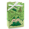 Twins Two Peas in a  Pod Caucasian  - Personalized Baby Shower Favor Boxes