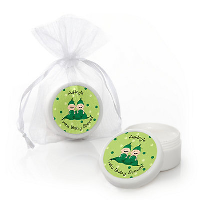 Two Peas in a Pod - Personalized Baby Shower Lip Balm Favors