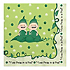 Twins Two Peas in a Pod Caucasian - Baby Shower Luncheon Napkins - 16 ct