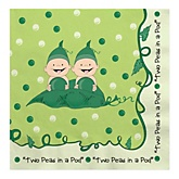 Twins Two Peas in a Pod Caucasian - Baby Shower Luncheon Napkins - 16 Pack