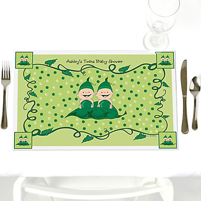 Two Peas In A Pod Personalized Baby Shower Placemat