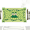 Twins Two Peas In A Pod Caucasian - Personalized Baby Shower Placemats