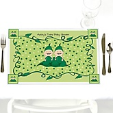 Twins Two Peas in a Pod - Personalized Baby Shower Placemats