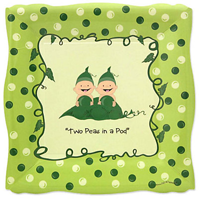 twins two peas in a pod baby shower dinner plates 8 ct