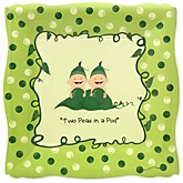 Twins Two Peas in a Pod Caucasian - Baby Shower Dinner Plates - 8 Pack