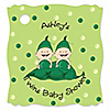 Twins Two Peas In A Pod Caucasian - Personalized Baby Shower Tags - 20 ct